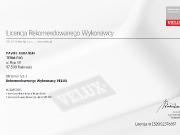 Certyfikat Vellux-1